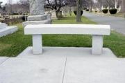 Vermont gray granite bench