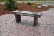 Larry Massone memorial bench