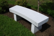 granite bench with legs