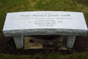memorial bench in Cedar Grove Cemetery, Peabody, MA