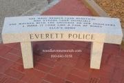 Everett Police memorial bench at Passos Avante Playground
