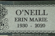 Irish design flat grave marker