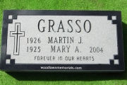 cemetery marker - black granite