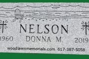 Unpolished grave marker for Woodlawn Cemetery