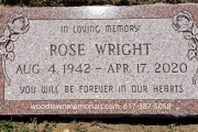 "Rose color grave marker with roses 24"" x 12"""