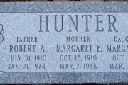 Three grave marker