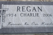 Gray granite single marker