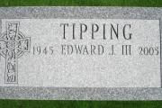 grave marker with Irish design