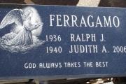 etched angel grave marker