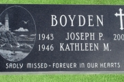 custom etched grave marker design