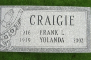 grave marker with praying hands - Charles Lawn Cemetery Reading Massachusetts