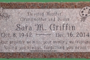 custom designed grave marker - Wood End Cemetery, Reading MA