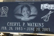 custom etched grave marker with portrait