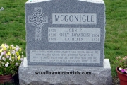 irish gravestone design in Forest Glade Cemetery Wakefield Ma
