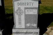 Irish headstone design in Catholic Cemetery, Boston, MA