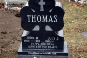 single lot Irish shamrock headstone