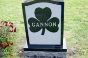Shamrock design headstone
