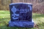 Irish headstone - erected in Rhode Island