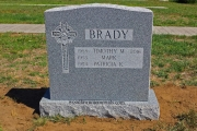 Irish, Green Granite, headstones with shamrocks,
