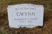 slant grave marker without base