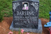 Headstone slant erected in Danvers Massachusetts