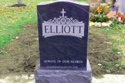 American Black headstone in St. Joseph's Cemetery, Lynn, MA