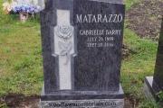 Single headstone - Bahama Blue Granite