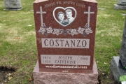 Glass etched headstone