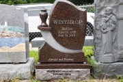Headstone for Winthrop Cemetery