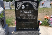Single black stone for 2 people - Oak Lawn Cemetery, Cummings Hwy, Boston, MA