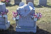 Weeping Angel headstone in Holy Cross Cemetery, Malden MA
