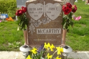 Single gravestone design