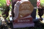 Angel on Red granite - Cedar Grove Cemetery, Dorchester, MA