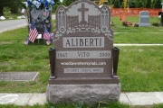 Single grave upright