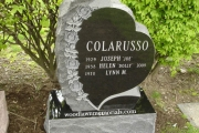 Single lot heart design gravestone