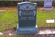 Irish headstone design in green granite