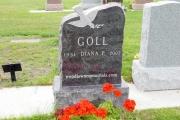single headstone with dove