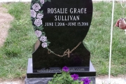 single upright headstone