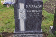 Single headstone - Bahama Blue Granite