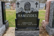 Greek headstone and monument design for single grave