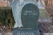 Single Angel monument - Holy Cross Cemetery, Malden, MA
