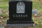Carving of Blessed Mother headstone - Woburn, MA
