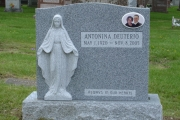 Blessed Mother double lot headstone