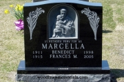 St Anthony with child headstone - Massachusetts