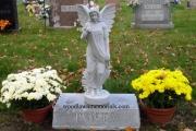 Angel statue headstone - Medford MA