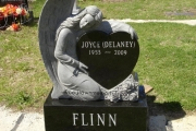 single upright headstone - Calvary Cemetery - Waltham Massachusetts