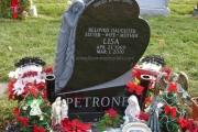single upright headstone design