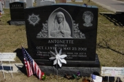 Blessed Mother sculpture statue headstone