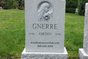 Catholic Blessed Mother Single plot headstone