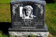 hand carved Jesus Christ headstone - Bahama Blue Granite
